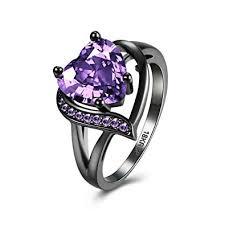 girl heart rings images Eternity love wedding bands women 39 s 18k black gold jpg