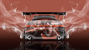 orange cars 2017 toyota mark2 jzx90 jdm back anime smoke super drift car