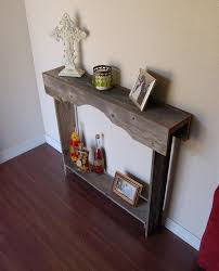 Small Entry Table Country Style Interior Ideas With Small Recycled Wood Entry Table