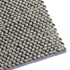 Grey Modern Rugs Dollop 8 X 10 Large Wool Rug Modern Rugs Dot