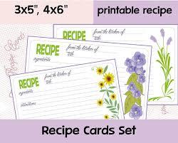 printable recipe cards 4 x 6 recipe cards recipe card template recipe card printable recipe