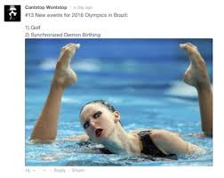Synchronized Swimming Meme - funny comments made by one guy fun