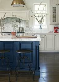 blue kitchen island and white cabinets 27 contrasting kitchen islands comfydwelling