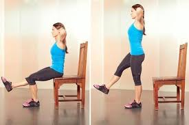 Chair Squat 5 Move Hotel Room Workout Fitpas Personal Activity Score