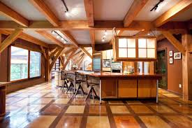 Timber Kitchen Designs Wonderful Timber Framed House Interior Designs Sleek Wooden