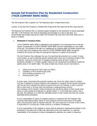 doc 585645 sample safety plan u2013 12 health and safety plan