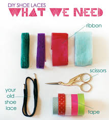 ribbon shoe laces diy funky kids shoe laces kidsomania