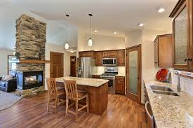 rv16 pecan floor plan square raised style cabinets in shades of
