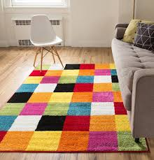 amazon com well woven squares soft multi geometric accent area