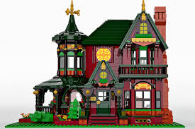 Build A Victorian House This Mini Victorian Dream Home Was Built With Legos Curbed
