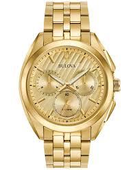 gold tone stainless steel bracelet images Bulova men 39 s chronograph curv gold tone stainless steel bracelet tif
