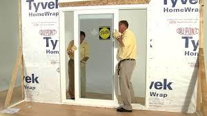 Installing Patio Door How To Install 350 Series Sliding Patio Door