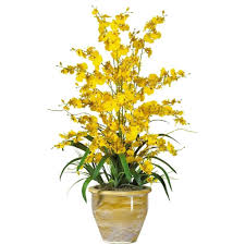 home decoration beautiful yellow fake floral arrangements