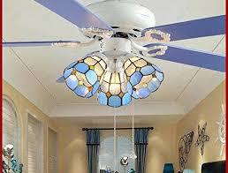 3 head ceiling fan vintage ceiling fan with light fashion romantic blue creative led 3