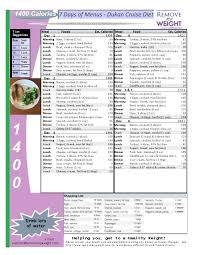 dukan diet 1 week menu plan 1400 calories per day free