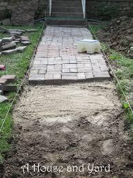 Yard Walkways A House And Yard How To Make A Brick Walkway