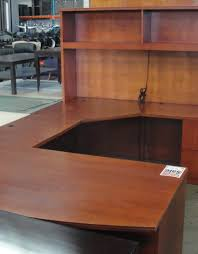 u shape cherry desk w hutch u2013 new and used office furniture in los