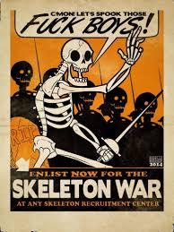 skeleton war comp art pinterest skeletons stuffing and