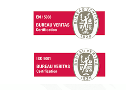 logo bureau veritas certification stepping awarded certification for both en 15038 and iso 9001