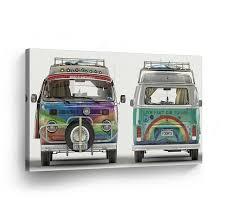 volkswagen van hippie classic volkswagen van hippie front and back canvas print home