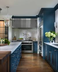 what color appliances with blue cabinets navy blue kitchen home bunch interior design ideas