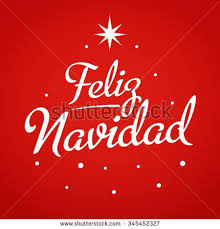 feliz navidad christmas card merry christmas card template greetings stock vector