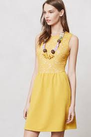 maeve clothing lyst maeve vera lace dress in yellow