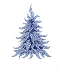feather christmas tree embroidery design