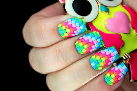 nail art neon neon neon rainbow neon nails 2 the black lightening