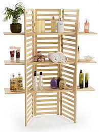 wood display wooden display rack 3 tier folding panels in pine