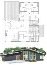 Modern House Floor Plans With Pictures Modern House Plan With High Ceilings Four Bedrooms And Separate