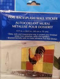amazon com foil backsplash wall sticker kitchen u0026 dining