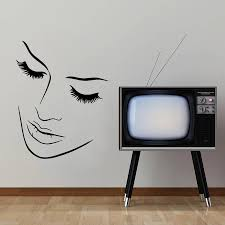 simple home decor olivia decor decor for your home and office sexy woman face pattern art wall decals home livingroom fashion decorative simple style wall murals sticker vinyl poster w 586