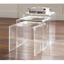 acrylic nesting tables target contemporary acrylic nesting tables regarding set of 2 fox hill