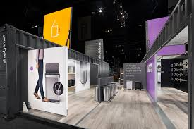 our shipping container booths simplify and modernize trade show
