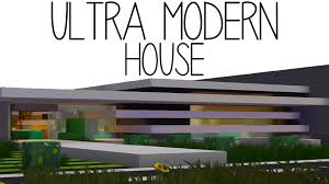minecraft ultra modern house youtube