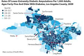 Santa Clarita Zip Code Map by Poor People With Diabetes Up To 10 Times Likelier To Lose A Limb