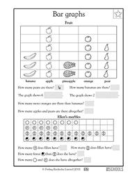 1st grade 2nd grade math worksheets fruit bar graph greatschools