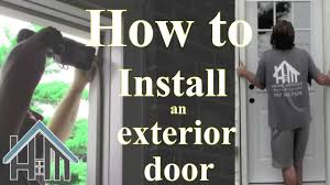 Replace Exterior Door Frame How To Install An Exterior Door And Jamb Replace Easy The Home