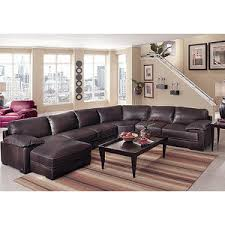 cindy crawford sofas cindy crawford home terrazza brown leather 4 pc raf sectiona
