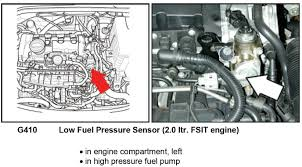 vw golf fuel rail too low low pressure fuel pressure