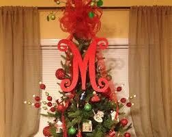monogram tree topper 9 unique christmas door topper ideas door toppers ideas