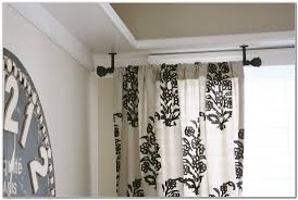 Make Your Own Curtain Rod Curtains Ceiling Hung Curtain Poles Ideas Ceiling Mount Curtain