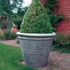 big flower pots giant stone flower plant pot vase interior