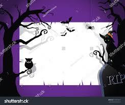 halloween party invite halloween party invitation background eps 10 stock vector