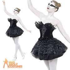 Black Swan Costume Halloween Black Swan Costume Gothic Masquerade Fancy Dress Womens Halloween