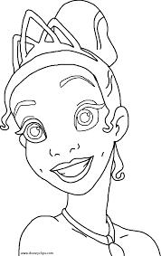 disney princess tiana coloring pages coloring