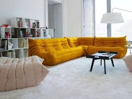rooms to go sectional sofas sectional upholstered fabric sofa togo collection by roset italia