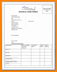 2 biodata format for job resume sections