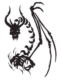dragon skeleton bones tattoo free design ideas